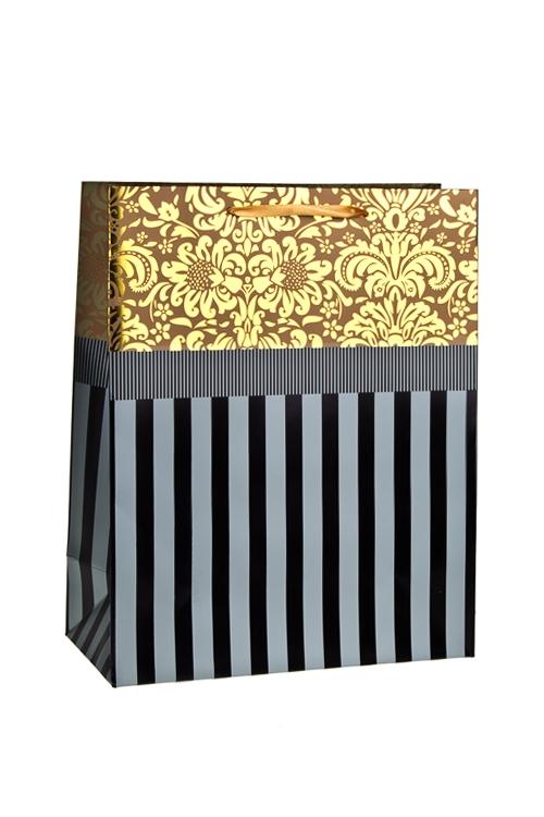 Пакет подарочный ГлянецСувениры и упаковка<br>26*12*32см, бум., матовый, с декором<br>