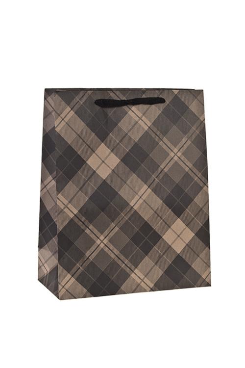 Пакет подарочный КлеткаСувениры и упаковка<br>26*12*32см, крафтовая бумага<br>