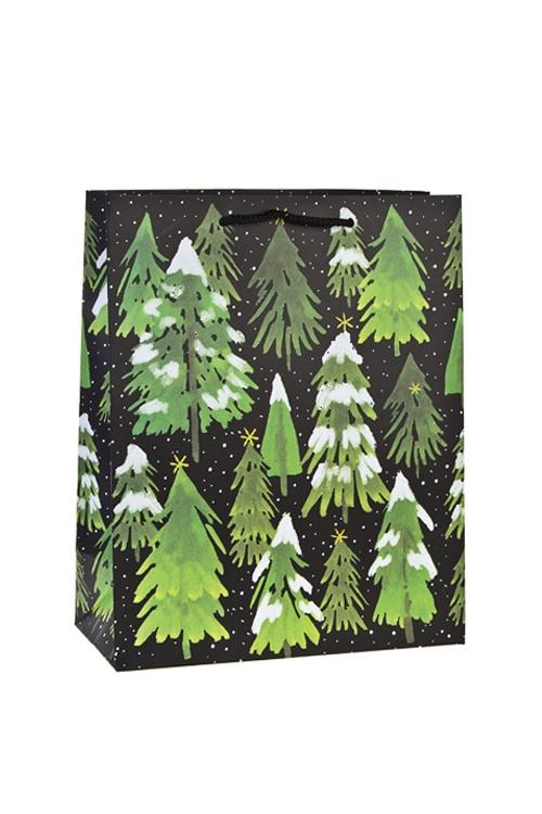 Пакет подарочный новогодний ЕлочкиСувениры и упаковка<br>26*12*32см, бум., матовый<br>
