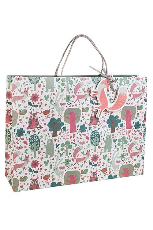 Пакет подарочный Лесная опушкаСувениры и упаковка<br>42*12*31см, бум., матовый<br>