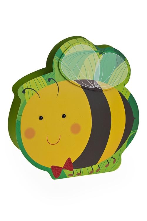 Пакет подарочный ПчелкаПакеты на любой повод<br>15*10*17.5см, бум., с декором<br>