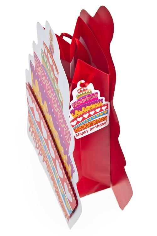 """Пакет подарочный """"Праздничный торт"""" - 2"""