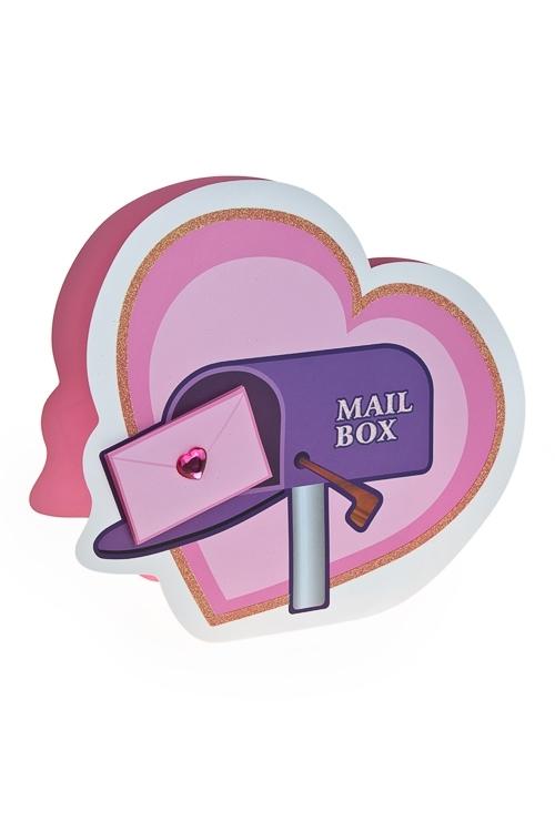Пакет подарочный Любовное посланиеСувениры и упаковка<br>15*10*17.5см, бум., с декором<br>
