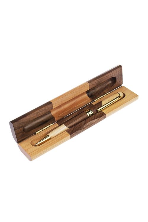 Ручка шариковая ГрациозностьПодарки начальнику/шефу<br>В коробке, 17.2*3.5*2.4см, дерево, беж.-коричн.<br>