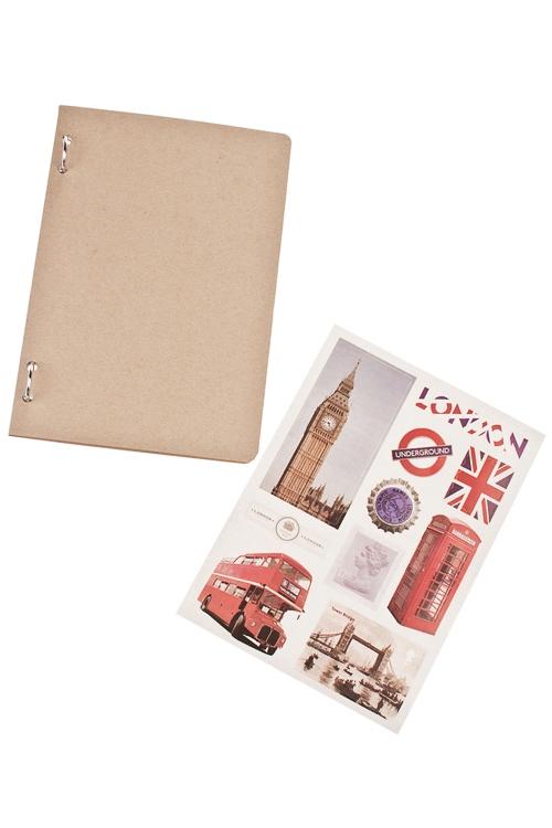 Записная книжка Мой ЛондонУчеба и работа<br>14*20см, 36 листов, бум., с наклейками<br>