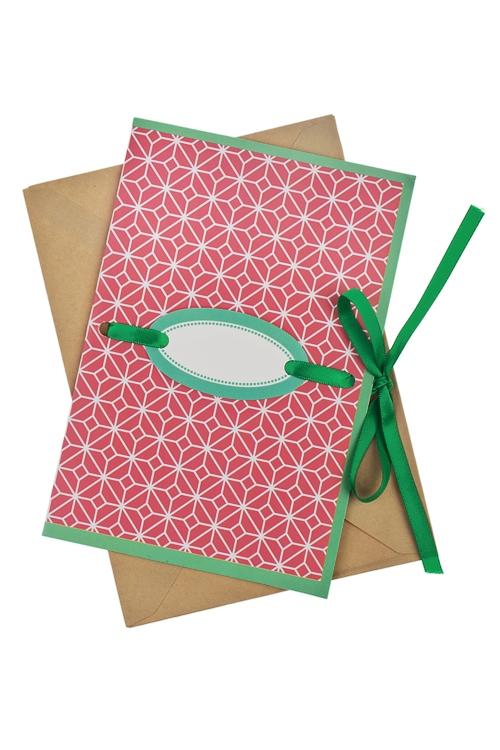 Открытка подарочная Яркий узорПодарки для женщин<br>17*11см, бум., с конвертом<br>