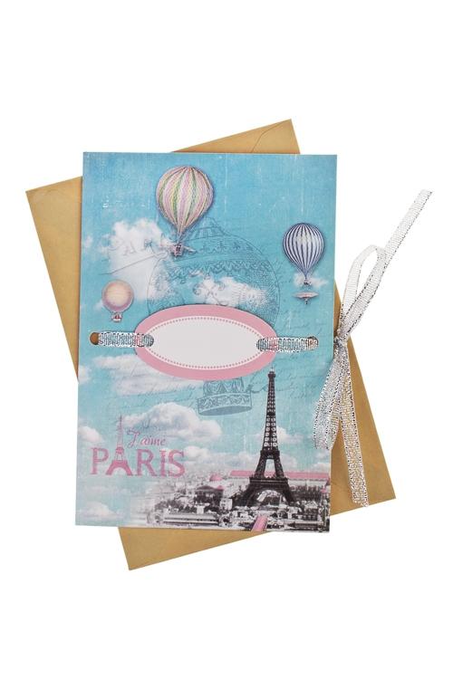 Открытка подарочная ПарижСувениры и упаковка<br>17*11см, бум., с конвертом<br>