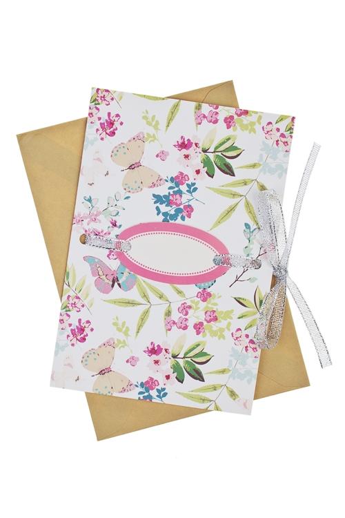 Открытка подарочная Полет бабочекСувениры и упаковка<br>17*11см, бум., с конвертом<br>