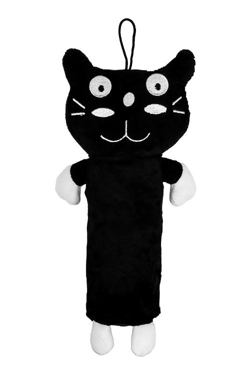 Пенал Скромный котикУчеба и работа<br>Дл=25см, текстиль, черно-белый<br>