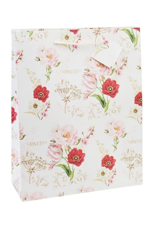 Пакет подарочный Цветочное настроениеСувениры и упаковка<br>27*10*34см, бум.<br>