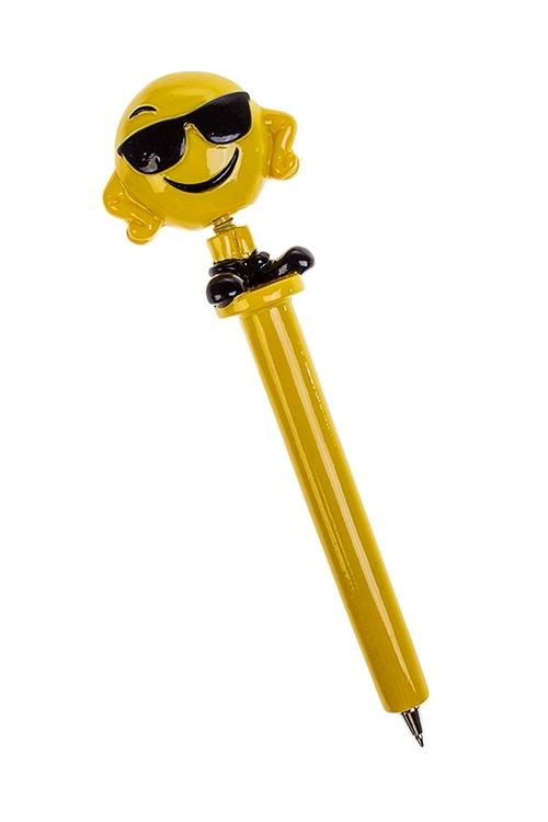 Ручка шариковая СмайликРучки и карандаши<br>Дл=16см, полирезин (3 вида)<br>