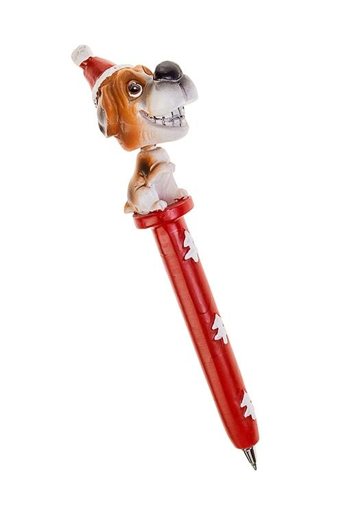 Ручка шариковая Собака в шапочкеУчеба и работа<br>Дл=16см, полирезин<br>