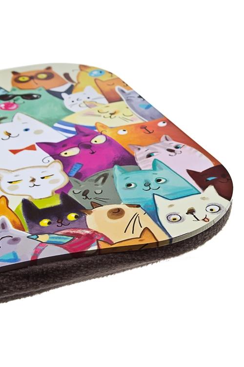 """Подставка для ноутбука с подушкой """"Разноцветные коты"""" от Красный куб"""