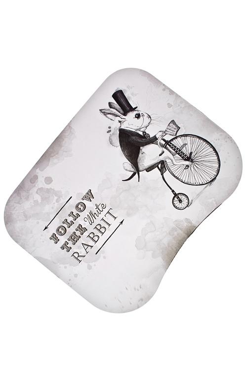 Подставка для ноутбука с подушкой Следуй за белым кроликомУчеба и работа<br>48*38см, МДФ, текстиль<br>