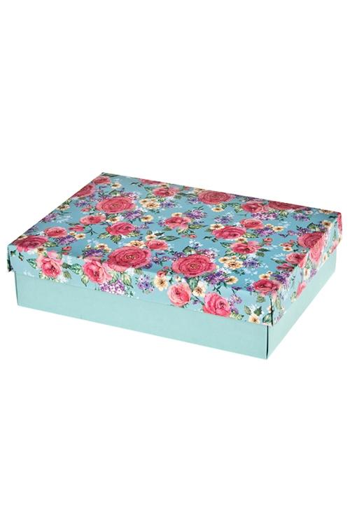 Коробка подарочная Бархатные розыПодарочные коробки<br>27*20.5*6.8см, бум.<br>