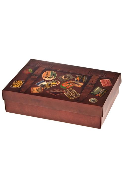 Коробка подарочная ЧемоданчикСувениры и упаковка<br>32*24*7.6см, бум.<br>