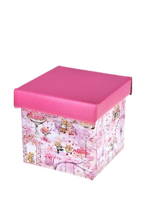 Коробка подарочная Мир влюбленныхКвадратные подарочные коробки<br>21.5*21.5*21.5см, бум.<br>