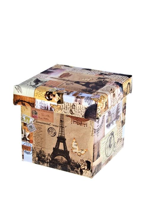 Коробка подарочная Волшебный ПарижКвадратные подарочные коробки<br>26*26*26см, бум.<br>