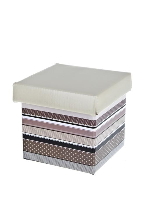 Коробка подарочная Прекрасная эпохаКвадратные подарочные коробки<br>26*26*26см, бум.<br>