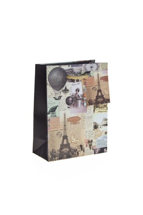 Пакет подарочный ПарижПакеты на любой повод<br>16*12*6см, бум., матовый<br>