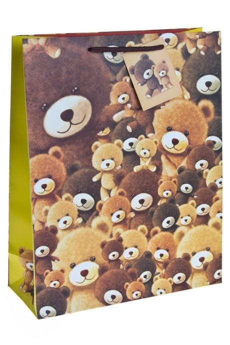 """Пакет подарочный """"Плюшевые мишки"""" от Красный куб"""