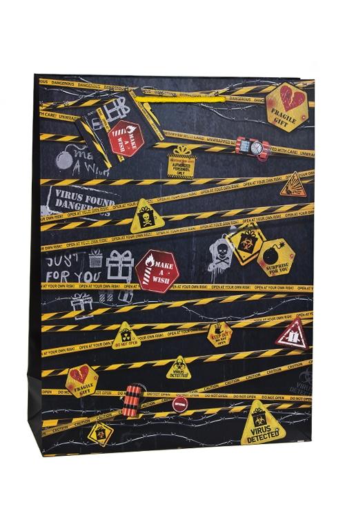 Пакет подарочный Особо опасноСувениры и упаковка<br>41*31*12.5см, бум., матовый<br>