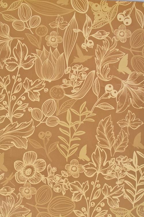 Бумага упаковочная Винтажные цветыУпаковочная бумага<br>70*100см<br>