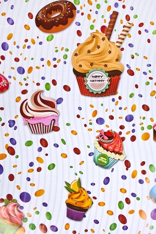 Бумага упаковочная КексикиПодарки на день рождения<br>70*100см<br>