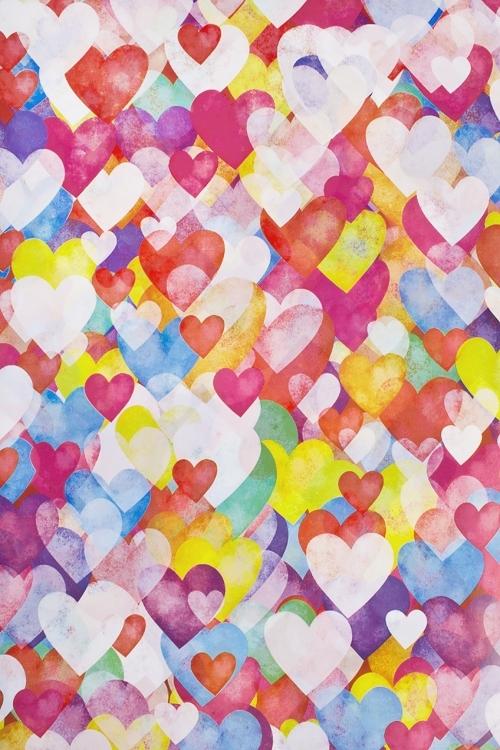 Бумага упаковочная Акварельные сердца - 2Упаковочная бумага<br>70*100см<br>