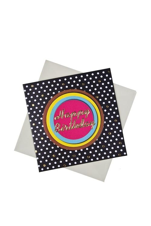 Открытка подарочная Поздравление на неоновой вывескеСувениры и упаковка<br>7*7см, бум., с конвертом<br>