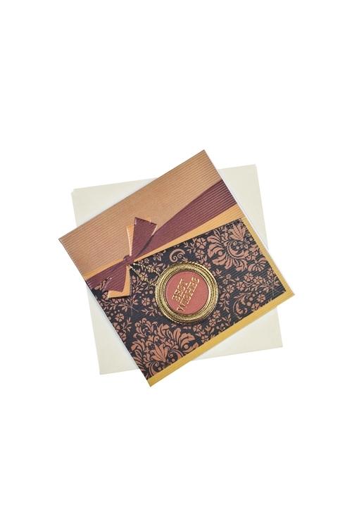 Открытка подарочная Роскошное поздравлениеОткрытки<br>7*7см, бум., с конвертом<br>