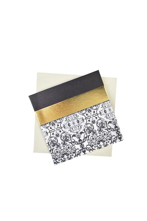 Открытка подарочная Изысканное кружевоСувениры и упаковка<br>7*7см, бум., с конвертом<br>