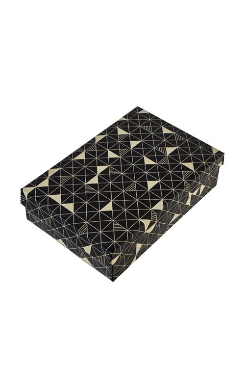 Коробка подарочная Стильный калейдоскопУзкие подарочные коробки<br>18.5*12.5*4.8см, бум.<br>