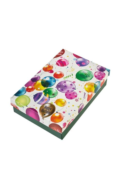 Коробка подарочная Воздушное поздравлениеУзкие подарочные коробки<br>18.5*12.5*4.8см, бум.<br>