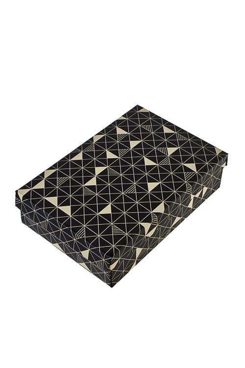 Коробка подарочная Стильный калейдоскопУзкие подарочные коробки<br>24*17*6см, бум.<br>