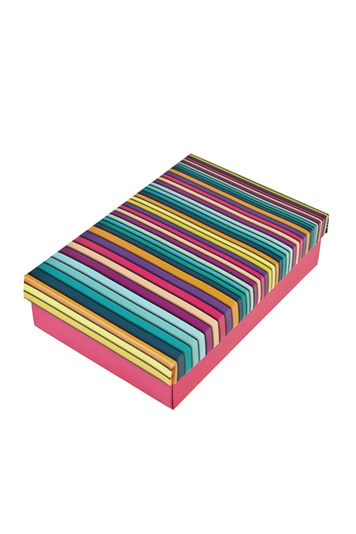 Коробка подарочная Пластилиновые полосыУзкие подарочные коробки<br>24*17*6см, бум.<br>