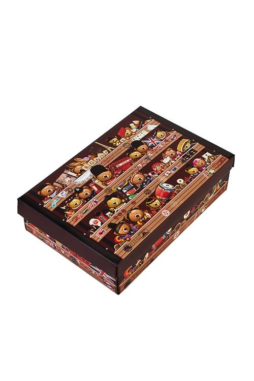 Коробка подарочная Мишка-путешественникУзкие подарочные коробки<br>27*20.5*6.8см, бум.<br>