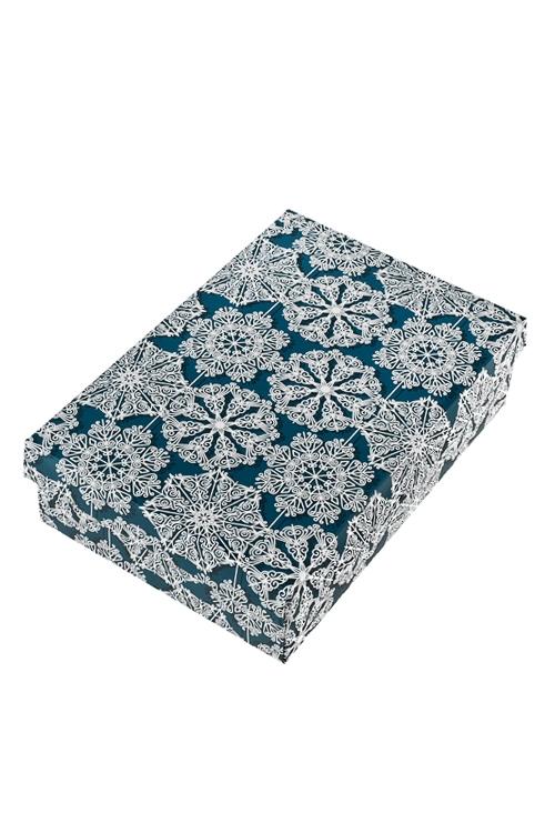 Коробка подарочная новогодняя Кружево из снежинокСувениры и упаковка<br>27*20.5*6.8см, бум.<br>