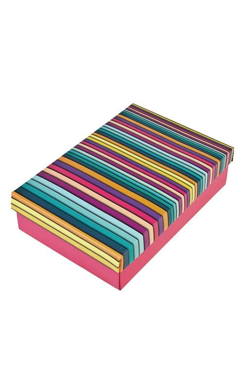 Коробка подарочная Пластилиновые полосыСувениры и упаковка<br>32*24*7.6см, бум.<br>