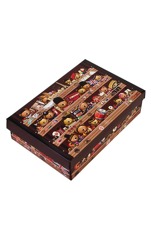 Коробка подарочная Мишка-путешественникУзкие подарочные коробки<br>32*24*7.6см, бум.<br>