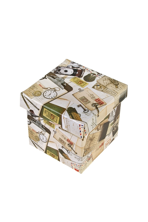 Коробка подарочная Вчерашний деньКвадратные подарочные коробки<br>11*11*11см, бум.<br>