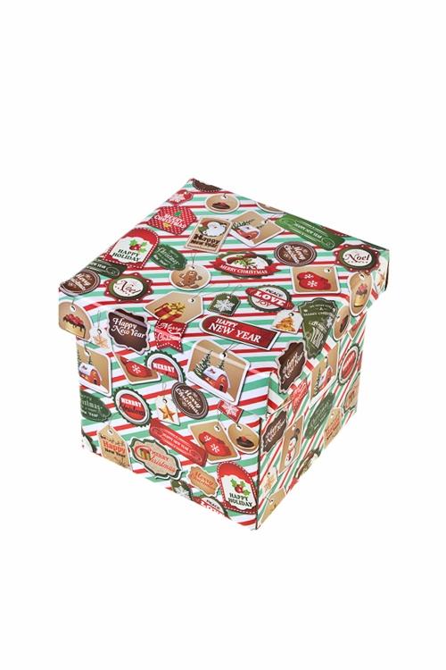 Коробка подарочная новогодняя ПечатиСувениры и упаковка<br>11*11*11см, бум.<br>