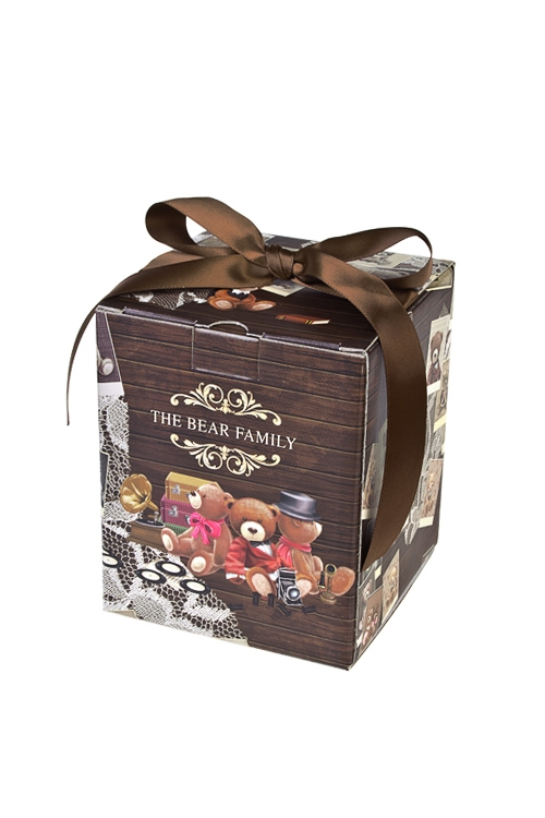 Коробка подарочная Семейный альбомКвадратные подарочные коробки<br>12*12*14.5см, бум., с лентой<br>
