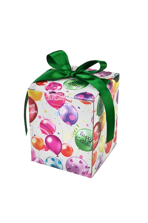 Коробка подарочная Воздушное поздравлениеКвадратные подарочные коробки<br>12*12*14.5см, бум., с лентой<br>