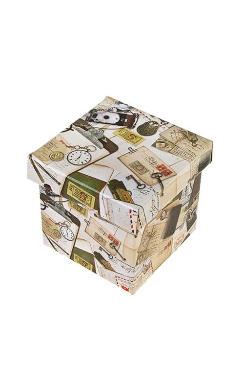 Коробка подарочная Вчерашний деньКвадратные подарочные коробки<br>17*15*16.8см, бум.<br>