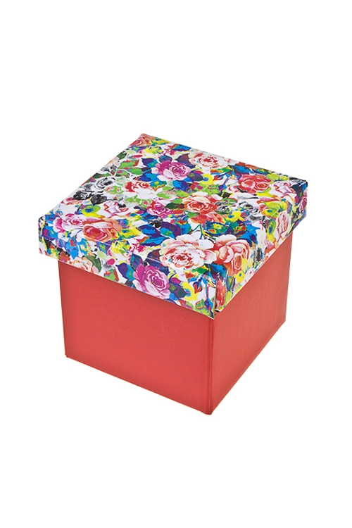 Коробка подарочная Пестрые розыСувениры и упаковка<br>17*15*16.8см, бум.<br>