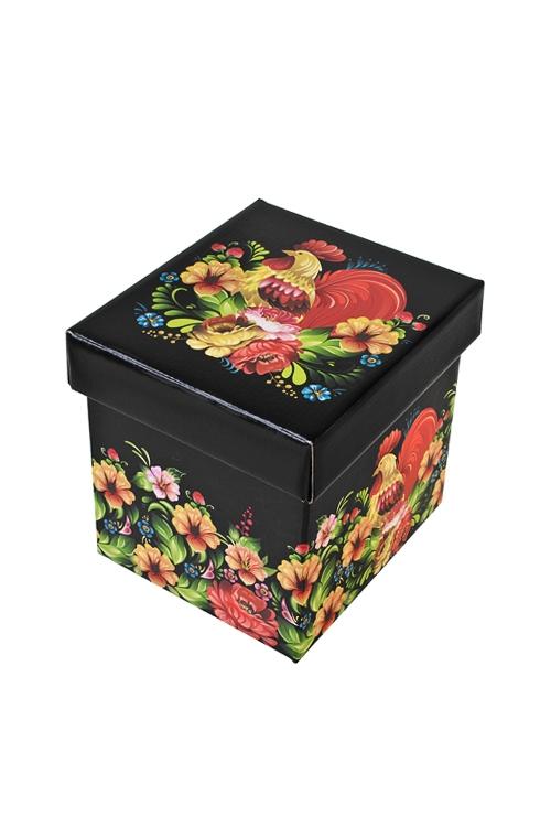 Коробка подарочная Сказочный петухСувениры и упаковка<br>17*15*16.8см, бум.<br>