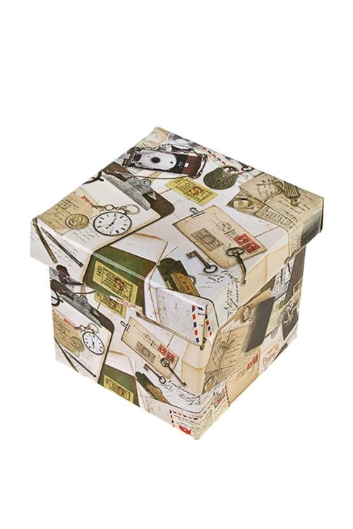 Коробка подарочная Вчерашний деньСувениры и упаковка<br>21.5*21.5*21.5см, бум.<br>