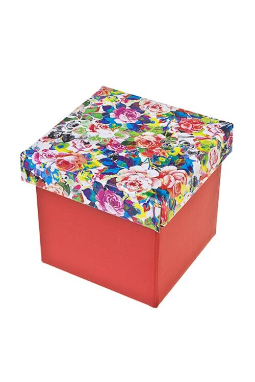 Коробка подарочная Пестрые розыСувениры и упаковка<br>21.5*21.5*21.5см, бум.<br>