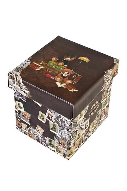 Коробка подарочная Семейный альбомСувениры и упаковка<br>21.5*21.5*21.5см, бум.<br>